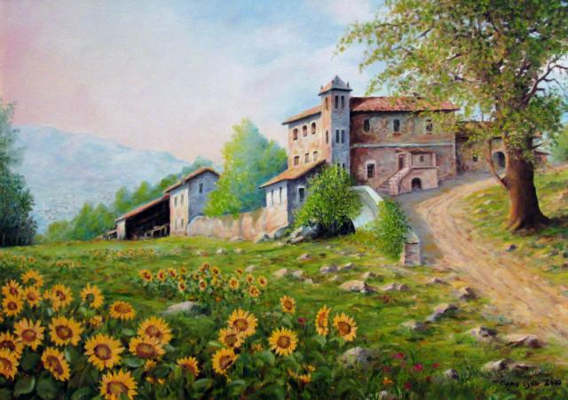 Stunning paesaggi con girasoli photos for Quadri dipinti a mano paesaggi